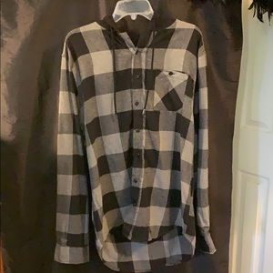 Black & Grey long Sleeve Flannel - Size Large